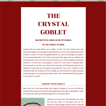 Crystal Goblet Lorin